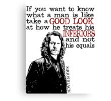 Sirius Black Harry Potter Typography Canvas Print