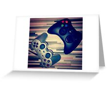 Console Yourself - PS2 & Xbox 360 Controllers Greeting Card