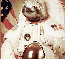 Astronaut sloth by marchewia