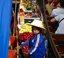 """""""Red Peppers"""" Floating Market, Bangkok, Thailand by AlexandraZloto"""