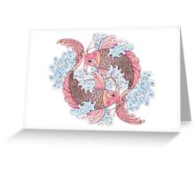 Koi Pair Greeting Card