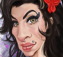 Amy Winehouse Caricature Dead Series by taggink