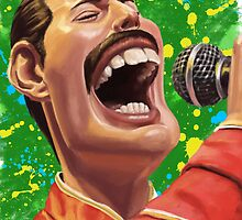 Freddie Mercury Caricature Dead Series by taggink