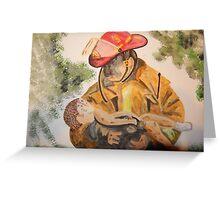 Oklahoma Firefighter,  1995 Greeting Card