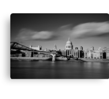 St Paul's Cathedral and Millenium Bridge Canvas Print