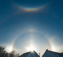 Sundogs Over Noonan by Jerry Walter