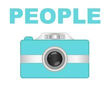 I Shoot People Aqua Camera by kwg2200