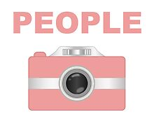 I Shoot People Pink Camera by kwg2200