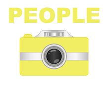 I Shoot People Yellow Camera by kwg2200