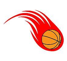 Curving Basketball Fireball Photographic Print