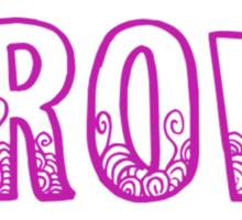 Never Grow Up (purple) Sticker