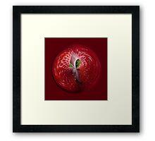 Strawberries from the inside. Framed Print