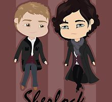Sherlock Chibis by Alex Mathews