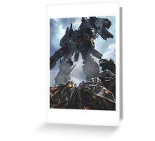 Power Up optimus prime Greeting Card