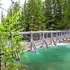 """Fifth Bridge"" Over the Maligne River by Jim Stiles"