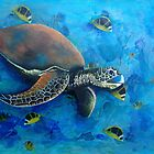 The Snappy Turtle Acrylic Painting by Kristy Spring-Brown