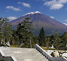 Stairway to Mt. Fuji by Ellen Cotton