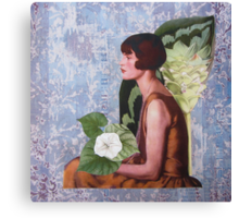The Girl in The Pearl Necklace Canvas Print