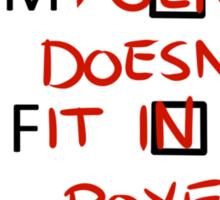Gender Boxes Sticker Sticker