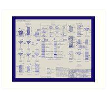 Mixologists' Blueprint Art Print