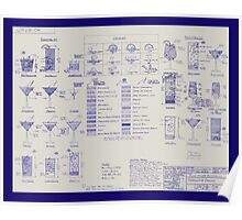 Mixologists' Blueprint Poster