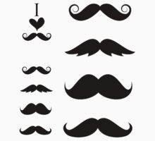 Mustache Sticker Pack by xAliLovex
