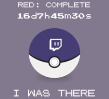 Twitch Plays Pokemon: I Was There - Dark with White Text by Twitch Plays Pokemon