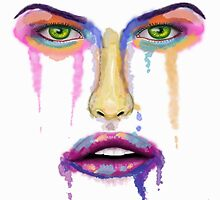Falling Apart - Liquid Colorful Face - Contemporary Art by ibadishi