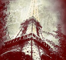 Retro Image of the Eiffel Tower by LLStewart