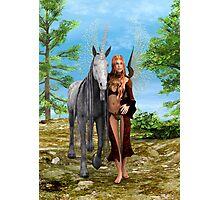 Fairy and Unicorn Photographic Print