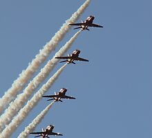Red Arrows at RAF Scampton by Jonathan Cox