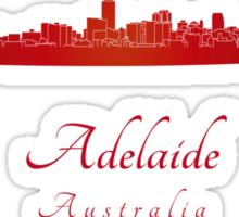 Adelaide skyline in red Sticker