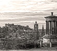 Edinburgh View in Sepia by DavidWHughes