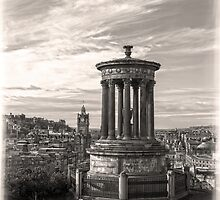 A Portrait of Edinburgh Sepia by DavidWHughes