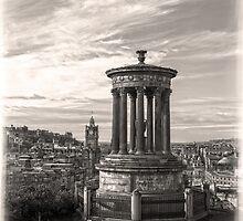 A Portrait of Edinburgh Sepia by DavidWHughes