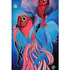 Pair of fluorescent fish  by amylouised