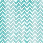 Blue Watercolor Chevron Pattern by Iveta Angelova