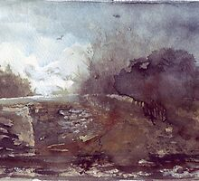 Watercolour Countryside Spain by peterpeter