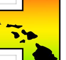 Hawaii HI in Rasta Colors Sticker