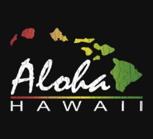 ALOHA - Hawaiian Islands (vintage distressed design) by robotface