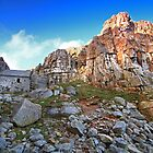 St Govan's Chapel - Faces In The Rock by rennaisance