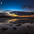 Binstead Beach Moon by manateevoyager