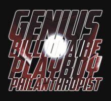 Genius, Billionaire, Playboy, Philanthropist Kids Clothes