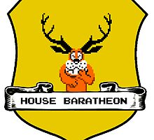 House Baratheon 8-bit Emblem by fortalyst