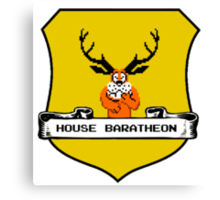 House Baratheon 8-bit Emblem Canvas Print