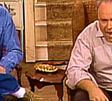 Archie & Meathead Watch Fox News  Sticker