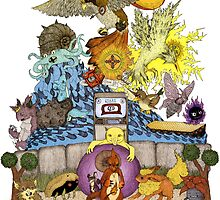 twitch plays pokemon red; the adventure remains! (color)  by engraven