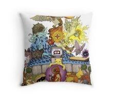 twitch plays pokemon red; the adventure remains! (color)  Throw Pillow