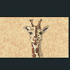 Giraffe on black by boothart