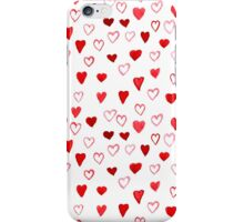 Watercolor Hearts pattern iPhone Case/Skin